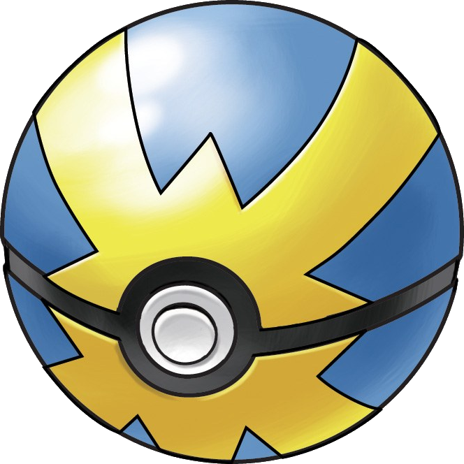 Quick ball pok mon. Pokeball clipart original