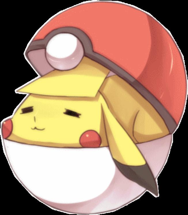 Pokemon kawaii cute adorable. Pikachu clipart pokeball