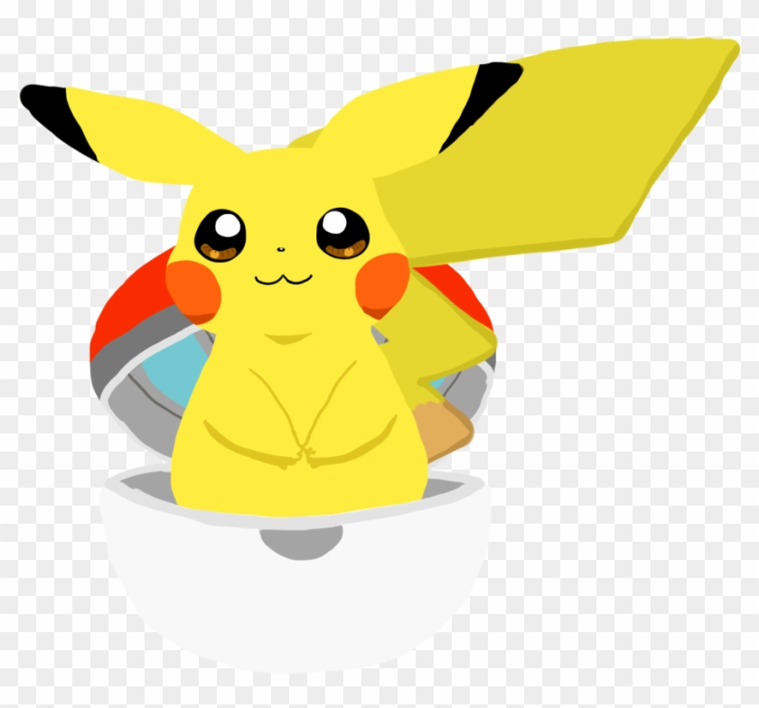 Pikachu clipart pokeball drawing. Cute in a open
