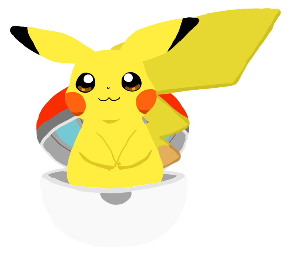 Pikachu and his by. Pokeball clipart open