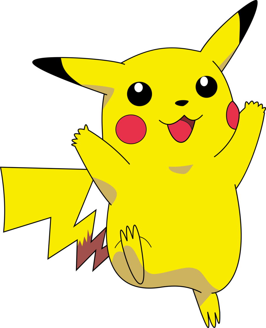 Pikachu clipart printable.  collection of pokemon