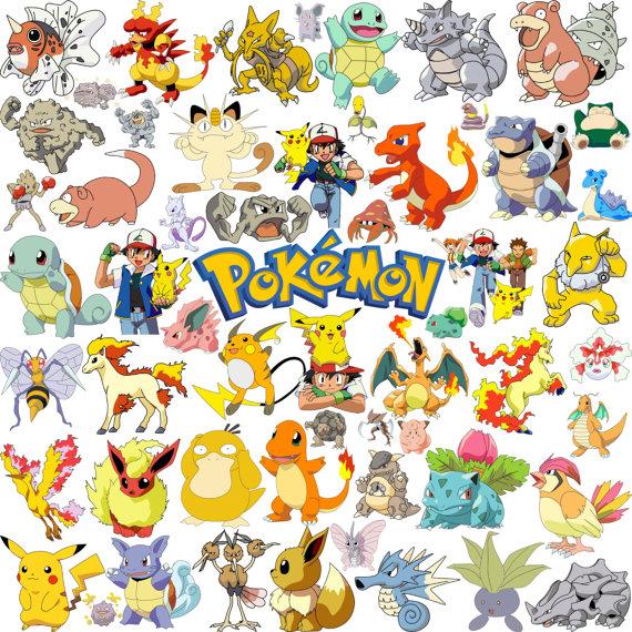 Pikachu clipart printable.  pokemon go stickers