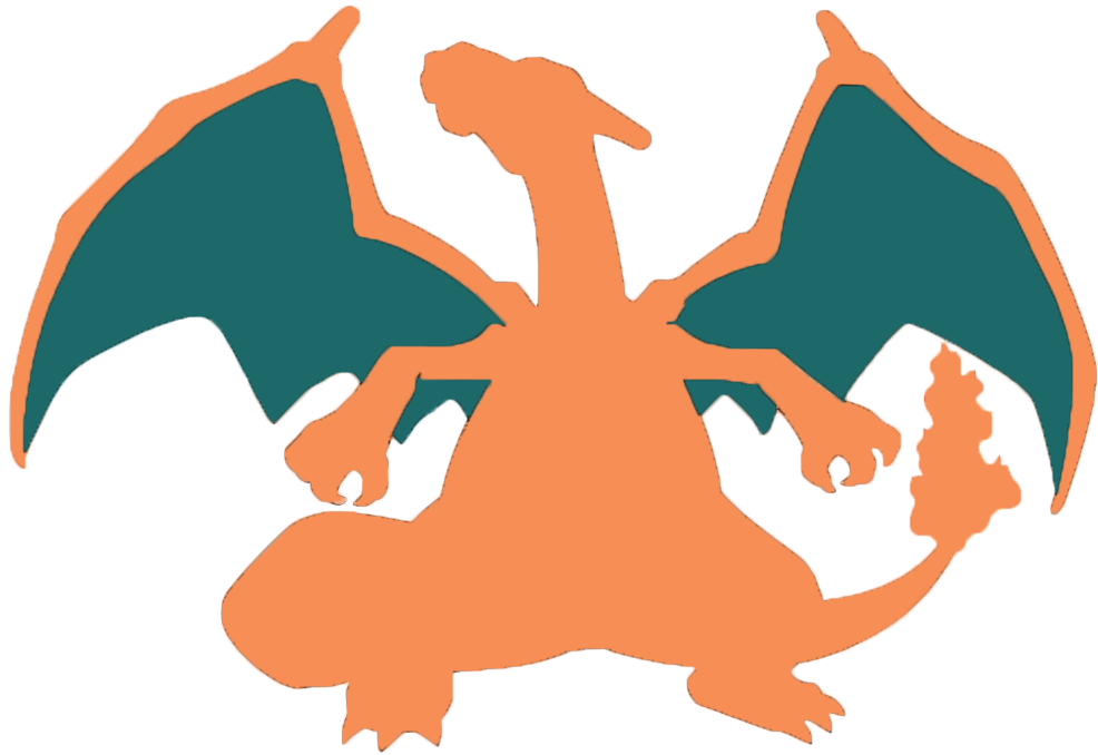 Pokeball clipart silhouette. Charizard at getdrawings com