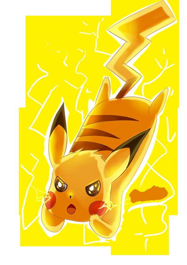 Pikachu clipart thunderbolt. Pokemon th anniversary tribute