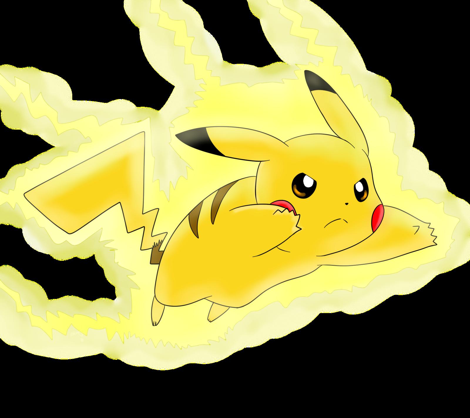Go by nicodiver on. Pikachu clipart thunderbolt