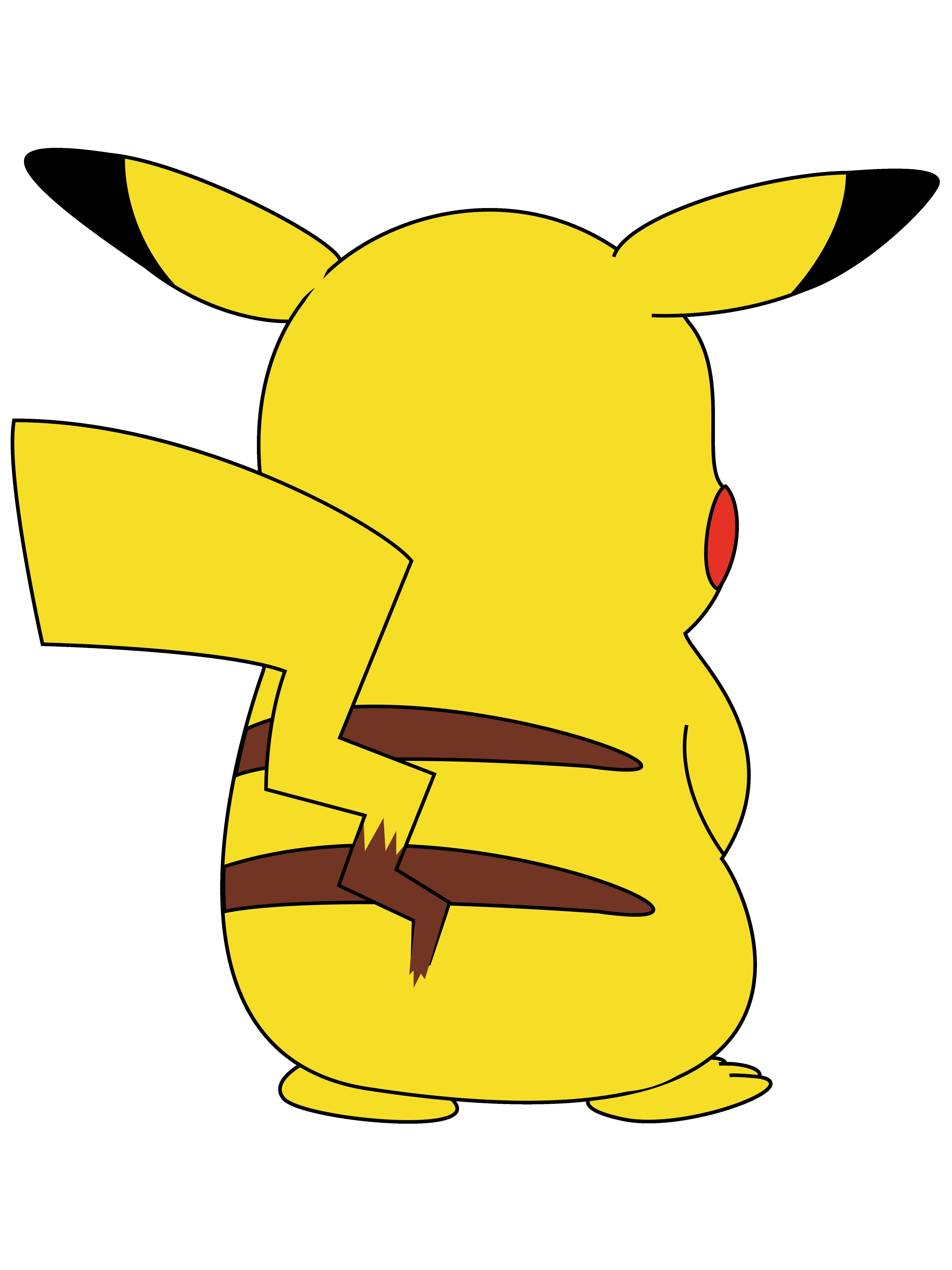 Pikachu clipart thunderbolt. S back shirt by