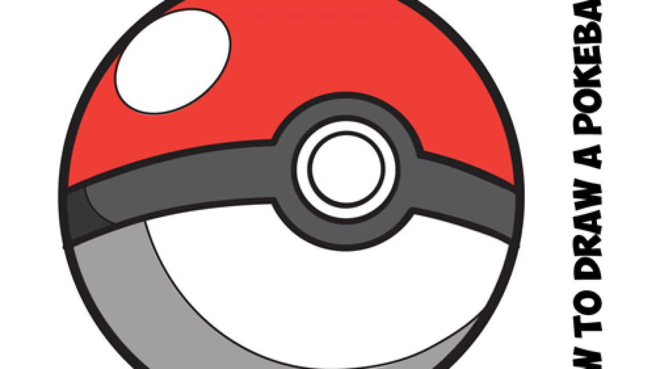 Pokeball clipart easy. How to draw a