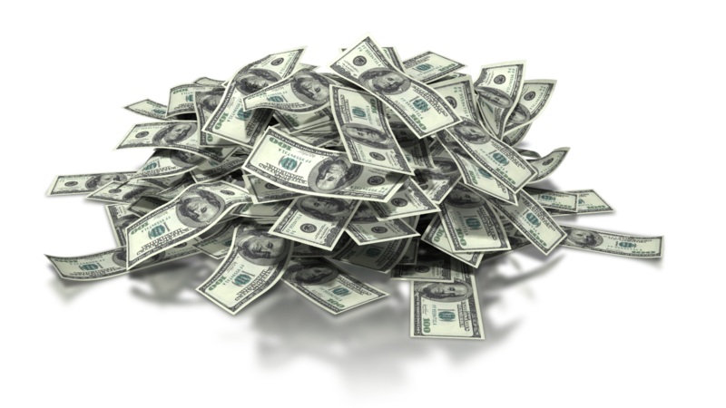 Pile of money png. Free grant for recycling