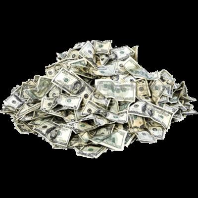 Cash transparent stickpng . Pile of money png