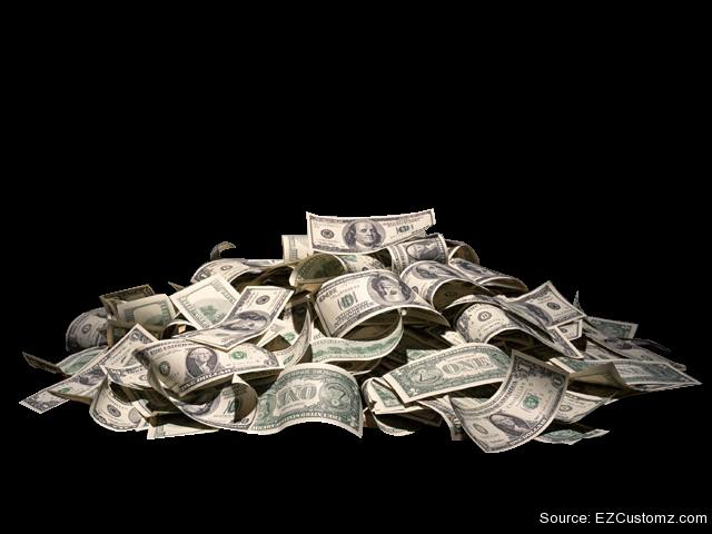 Ezcustomz. Pile of money png