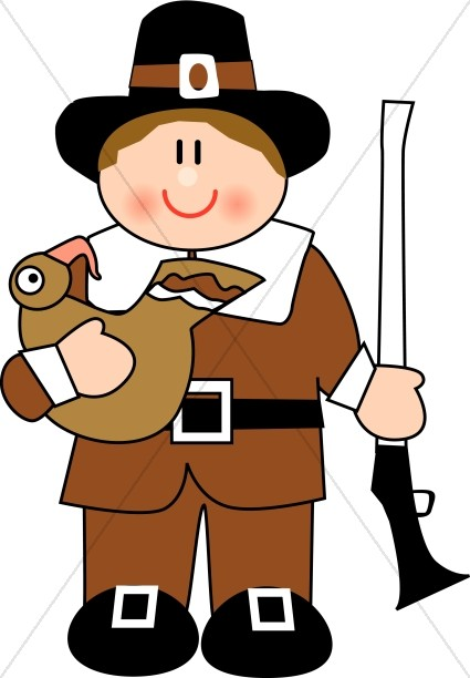 Pilgrims clipart. Cute pilgrim man thanksgiving
