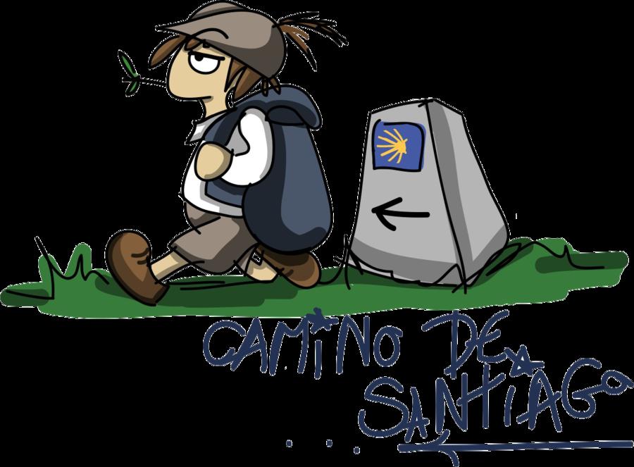 Camino de santiago saint. Pilgrim clipart boot