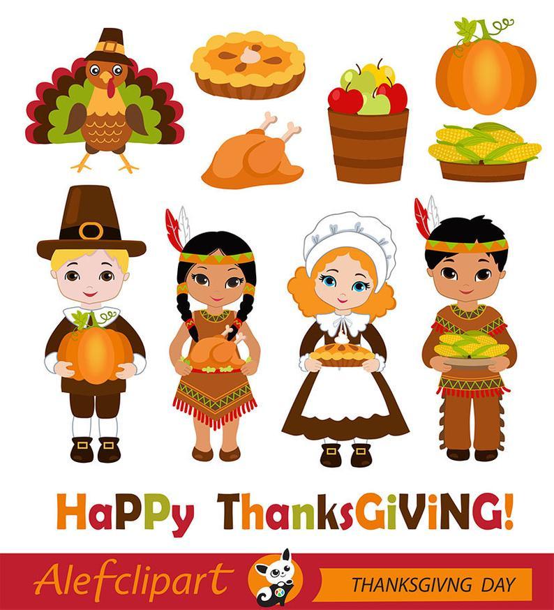 Thanksgiving digital pilgrim . Pilgrims clipart happy