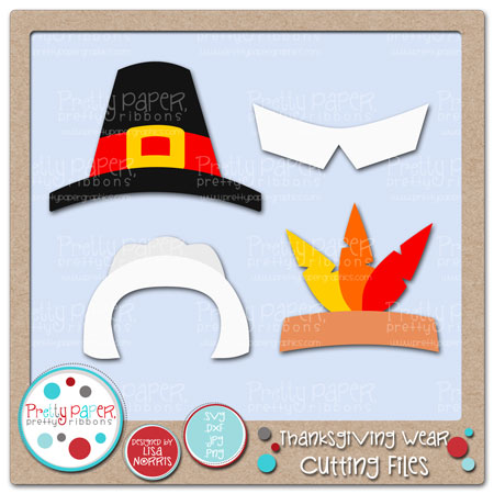Pretty paper ribbons graphics. Pilgrim clipart collar