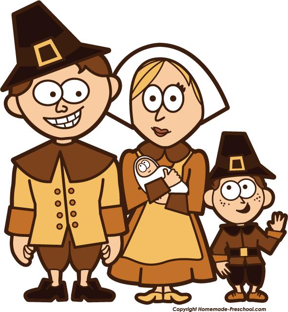 Pilgrims clipart pilgrim family.