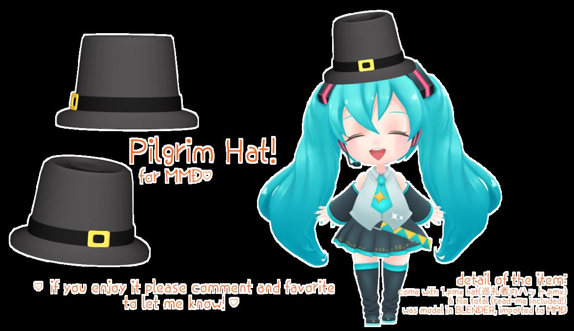 Pilgrim clipart pilgrim hat. Mmd dl festive item