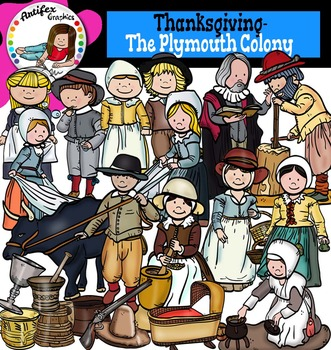 Pilgrims clipart plymouth colony. Thanksgiving the color and