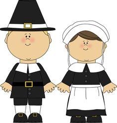 Pilgrim clipart. Cute clip art pilgrims