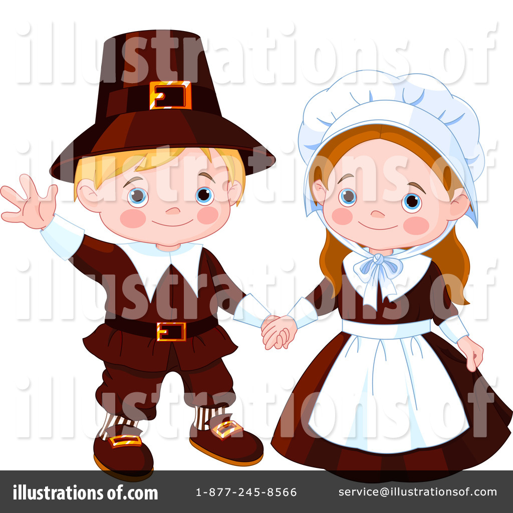 Illustration by pushkin royaltyfree. Pilgrims clipart