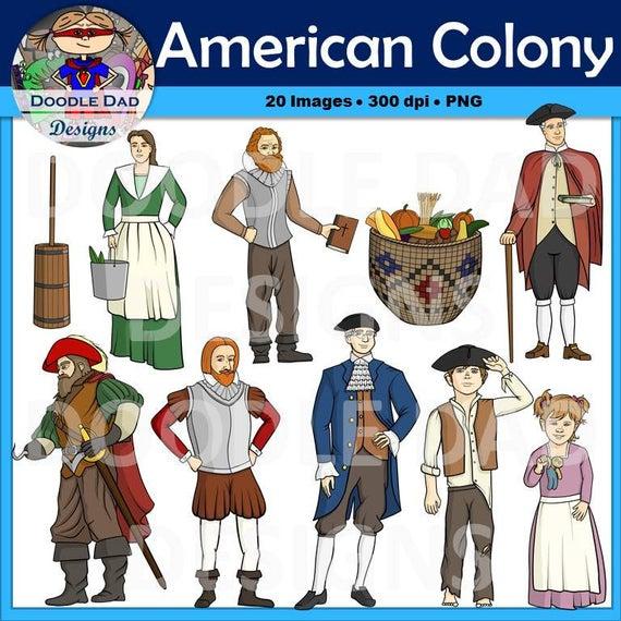 Pilgrims clipart colonial person. American colony clip art
