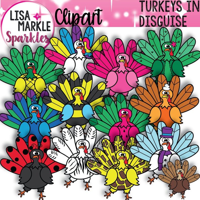 Thanksgiving fall . Pilgrims clipart disguised turkey