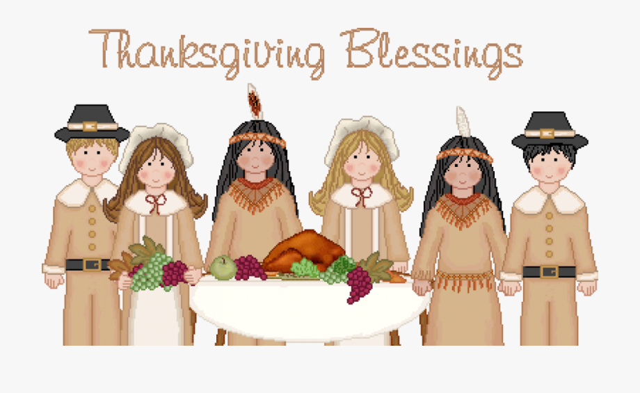 Free thanksgiving blessings feast. Pilgrims clipart first