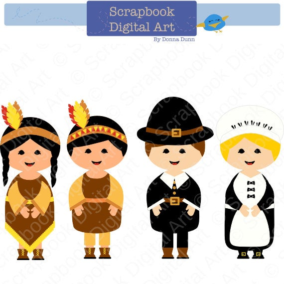 And indians digital clip. Pilgrims clipart first