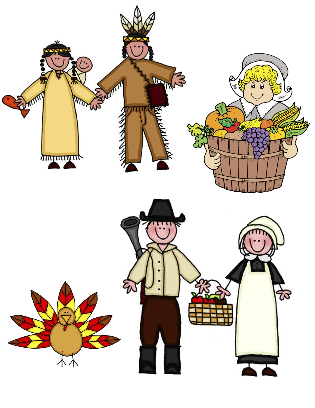 Pilgrims clipart first. Free thanksgiving images download