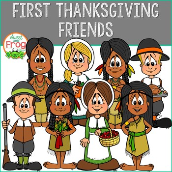 Pilgrims clipart friend. First thanksgiving and native