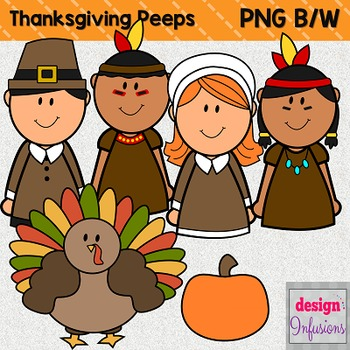 Pilgrims clipart kids. Peep thanksgiving and indians
