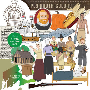Thanksgiving clip art by. Pilgrims clipart plymouth colony