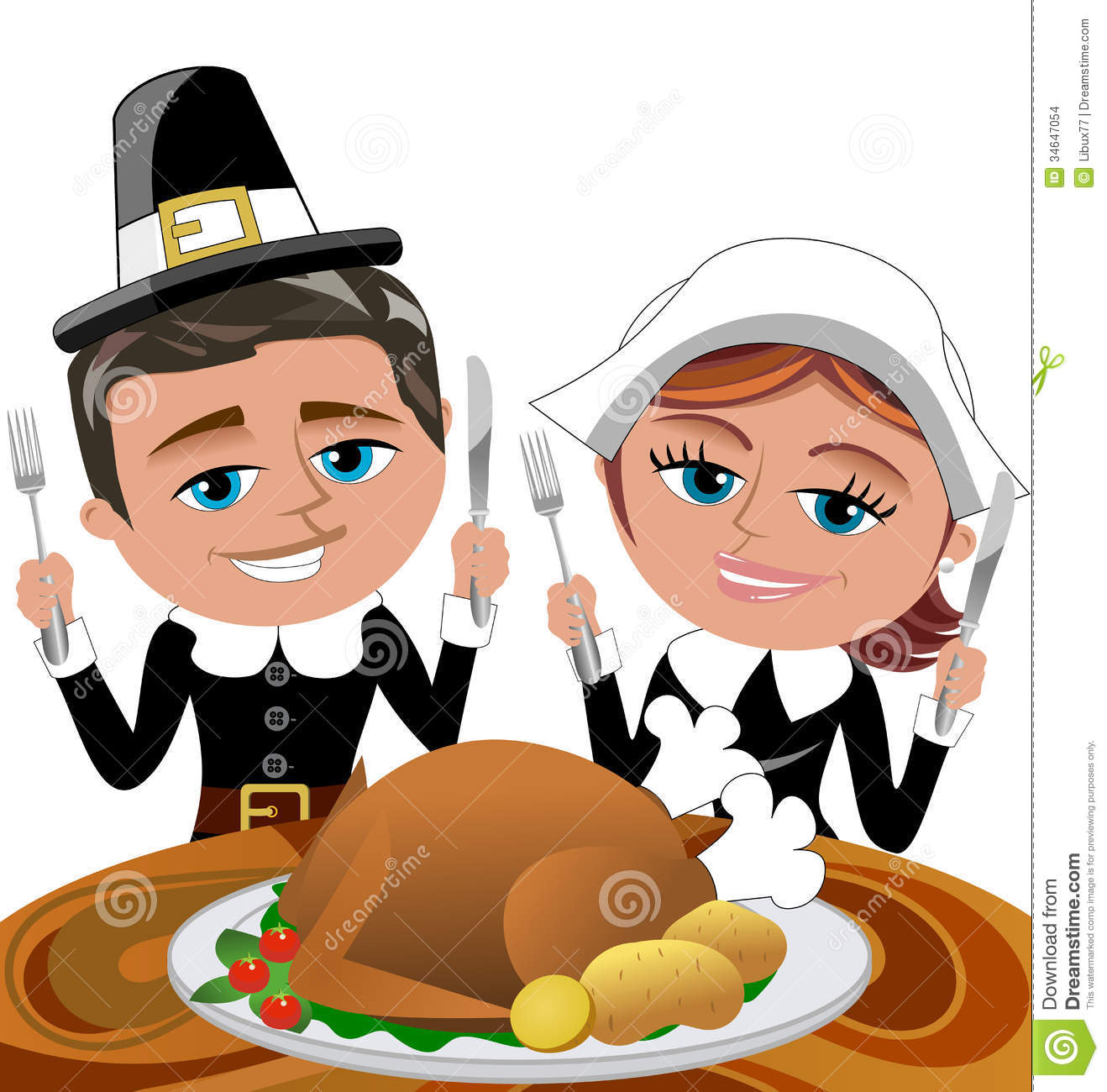 Pilgrims clipart table. Thanksgiving cliparts free download