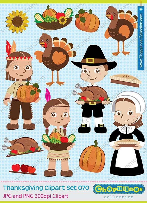 Thanksgiving native americans . Pilgrims clipart table