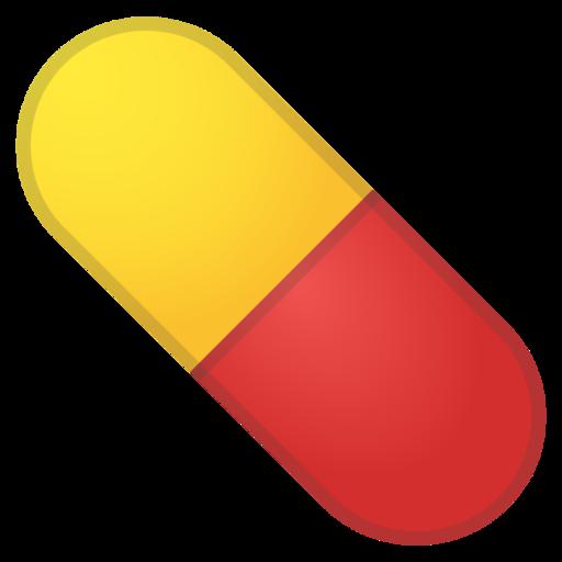 . Pill clipart emoji