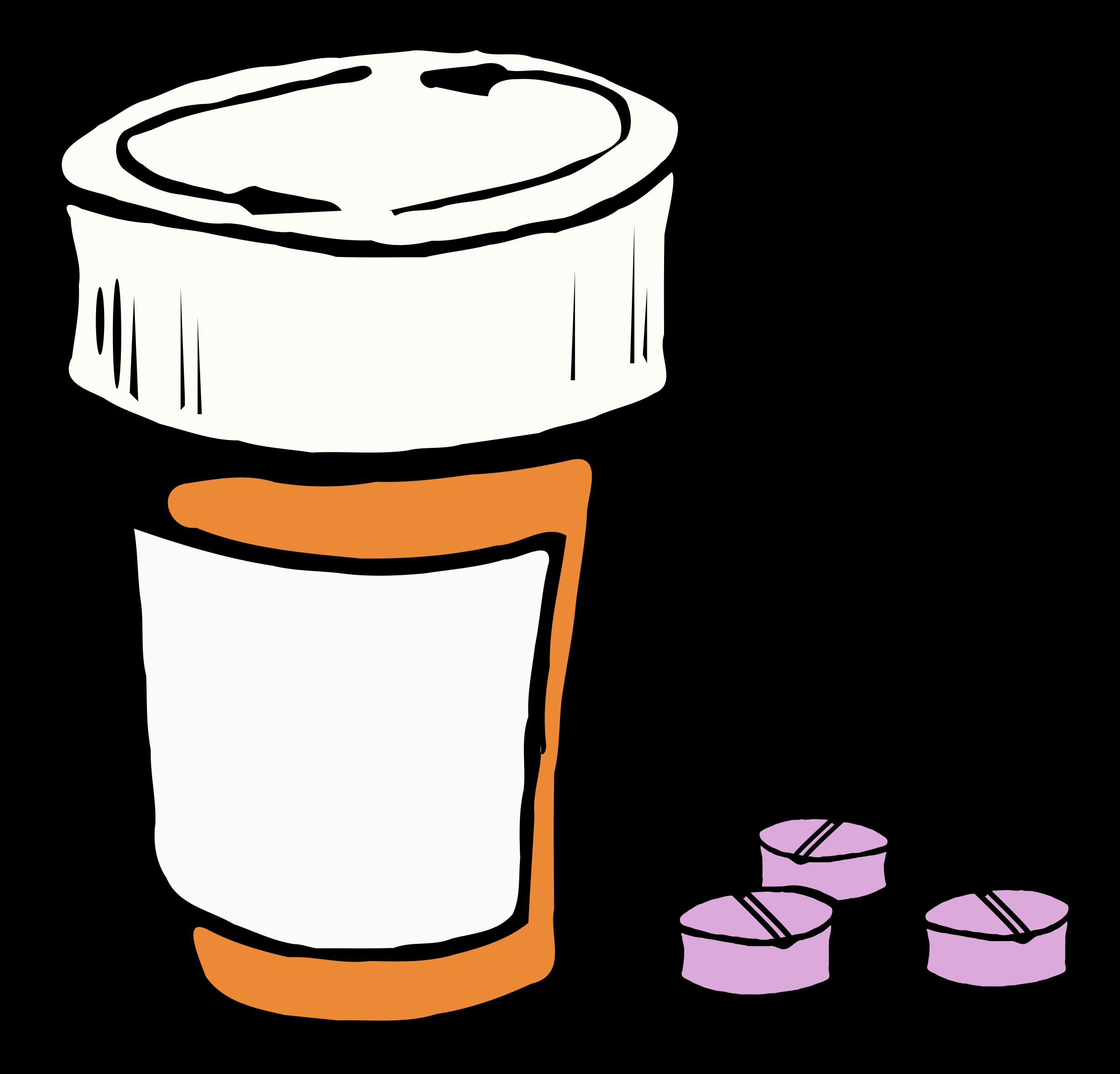 Colour big image png. Pills clipart medical