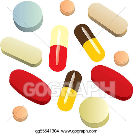 Pills clipart pain reliever. Vector stock isolated painkiller