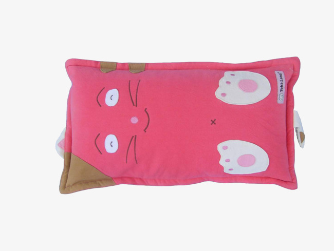 Pillow clipart. Pink cat lovely png