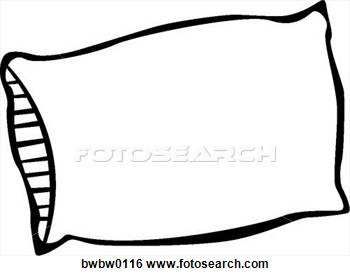 Pillow clipart. White