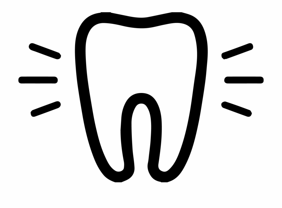 Drawing of healthy teeth. Pillow clipart pellow