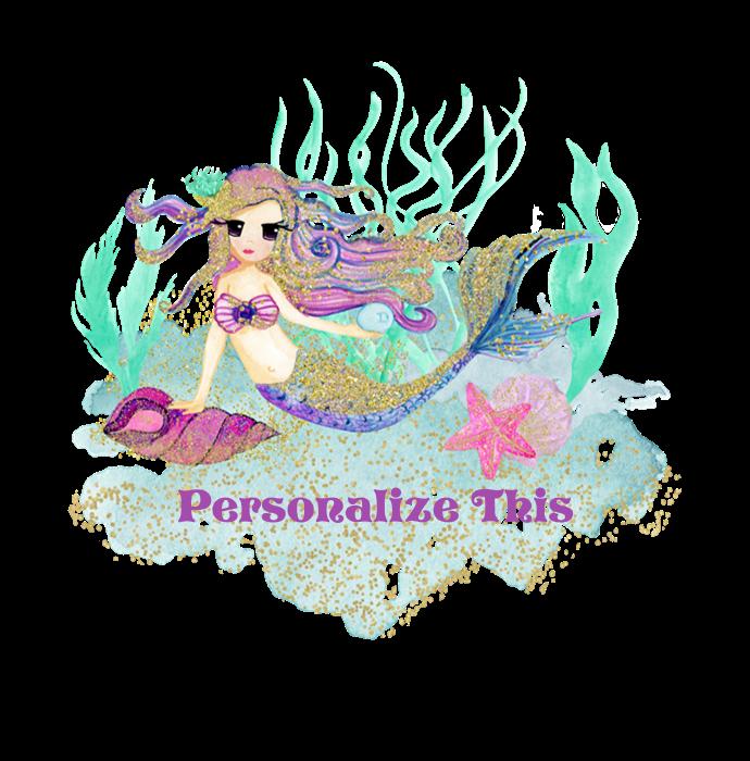 Pillow clipart pillo. Cute personalized mermaid rectangular