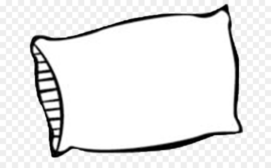 Line cartoon white black. Pillow clipart pillo