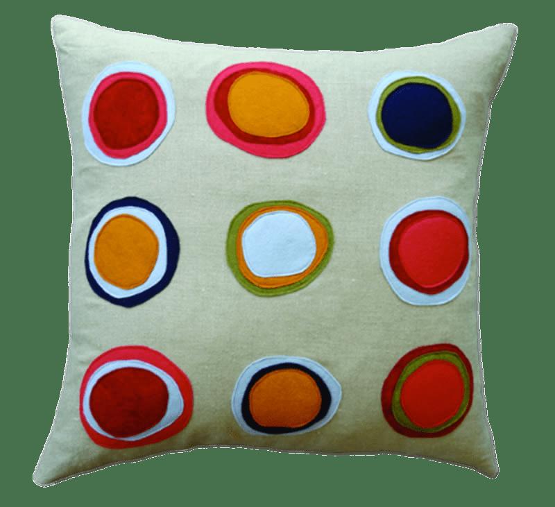 Pillow clipart sham. With dots transparent png