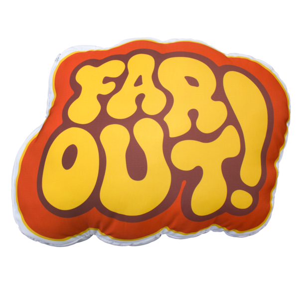 Far out john denver. Pillow clipart throw pillow