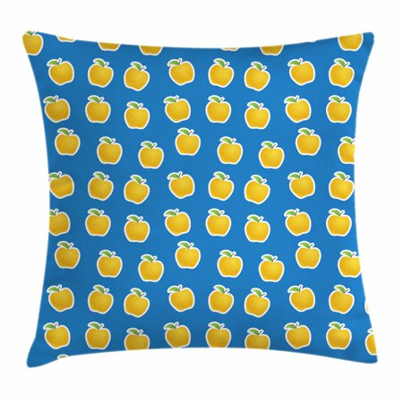 Pillow clipart throw pillow. Apple cushion cover yellow