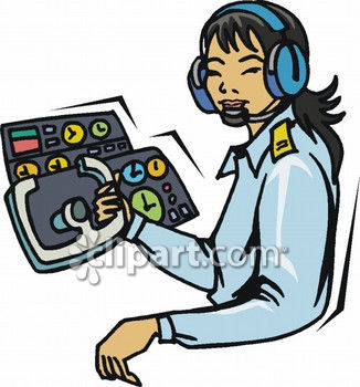 Female . Pilot clipart