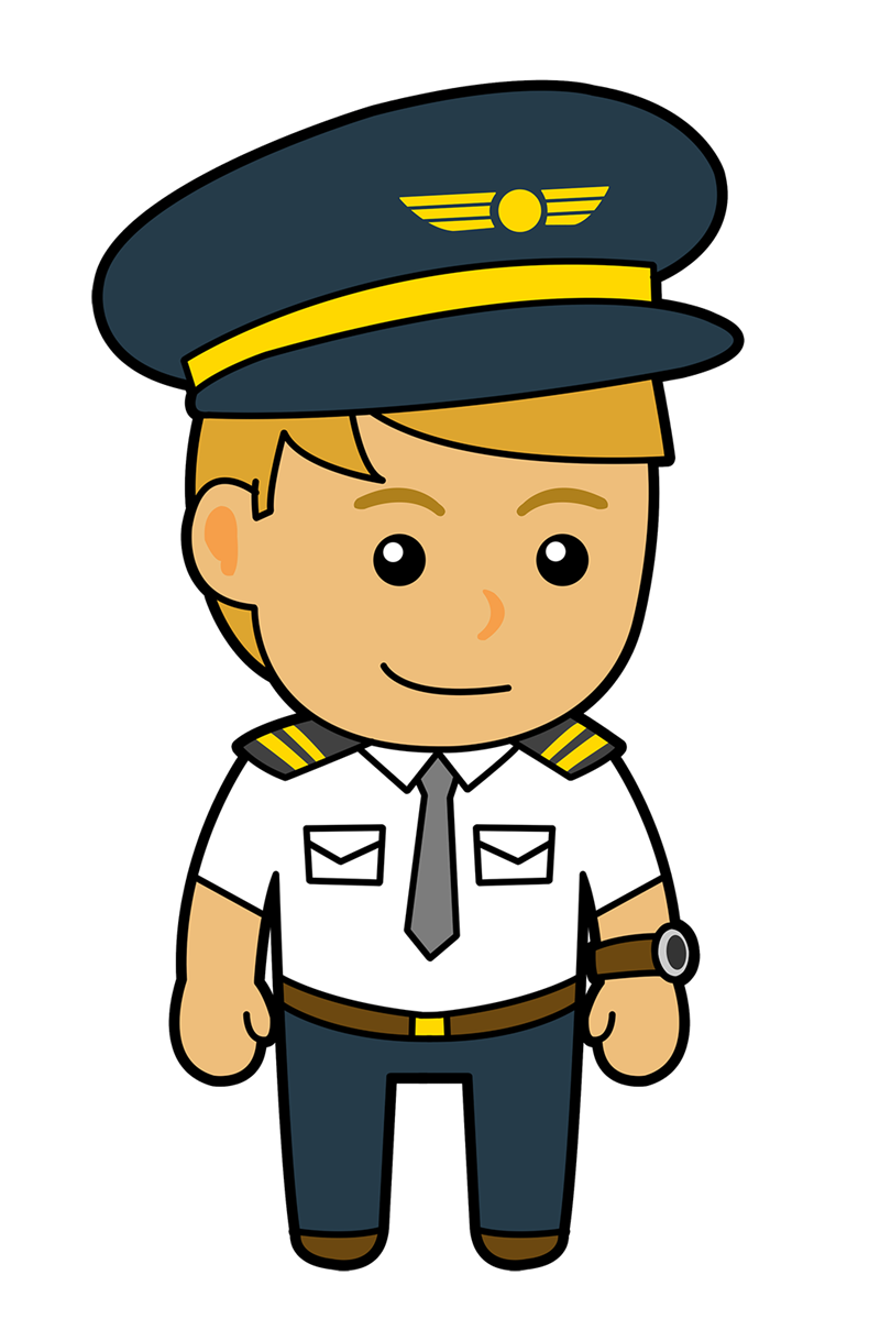 awesome pilot uniform. Professional clipart occupation