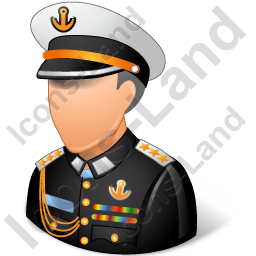 Naval male light icon. Pilot clipart admiral