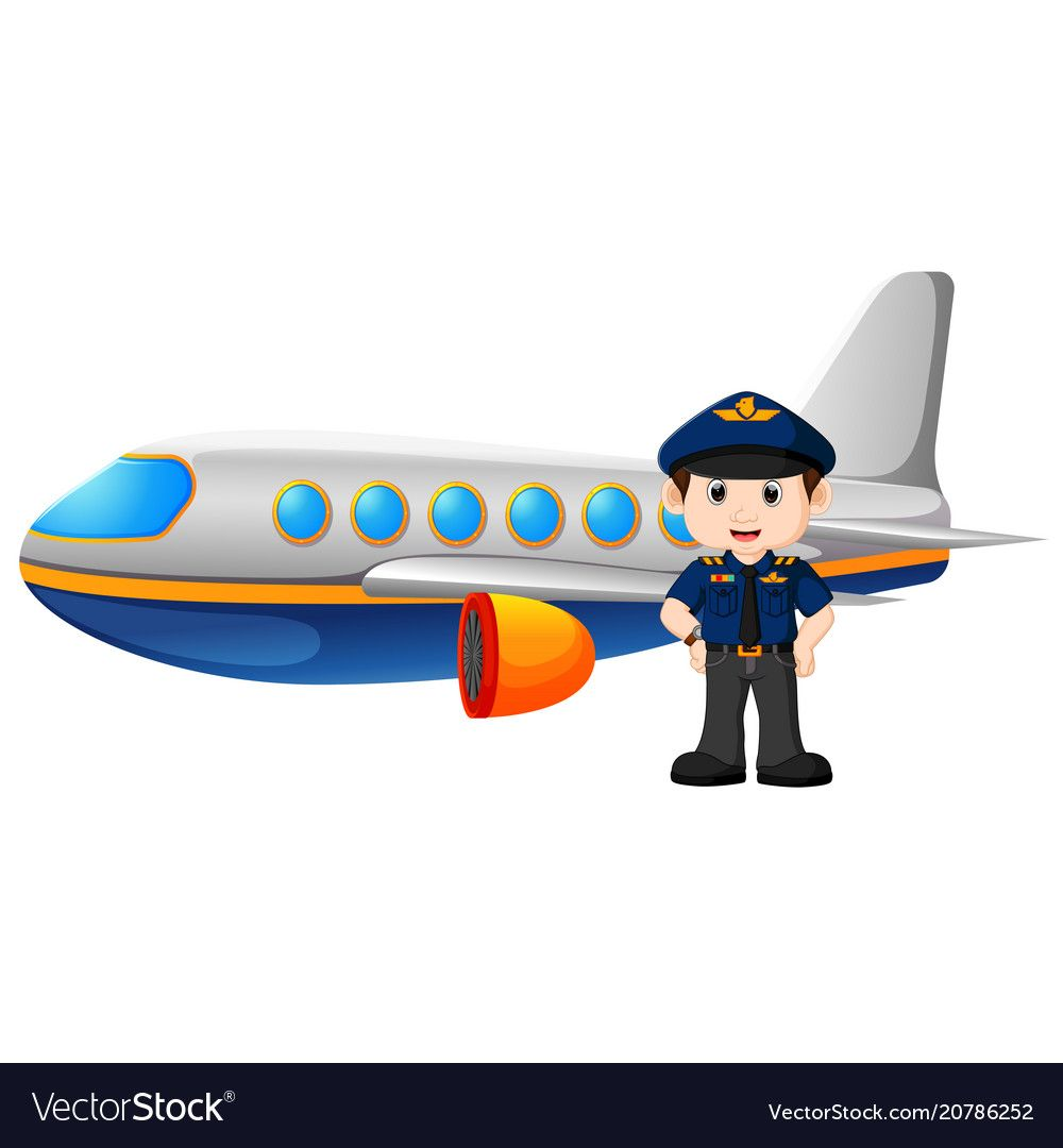 And airplane on white. Pilot clipart aircraft engineer