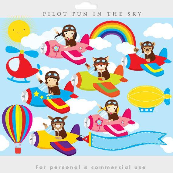 Pilot clipart aviation. Little pilots clip art
