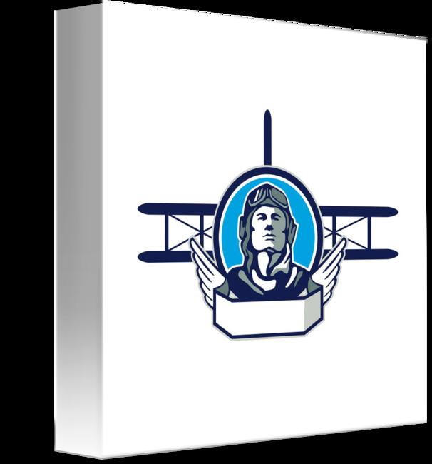 Pilot clipart aviator pilot. World war one biplane